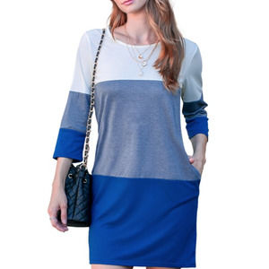 Casual Navy Basic Mini Dress Top Tunic Pockets S